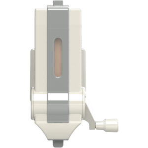 Râpe à manivelle – blanc/gris
